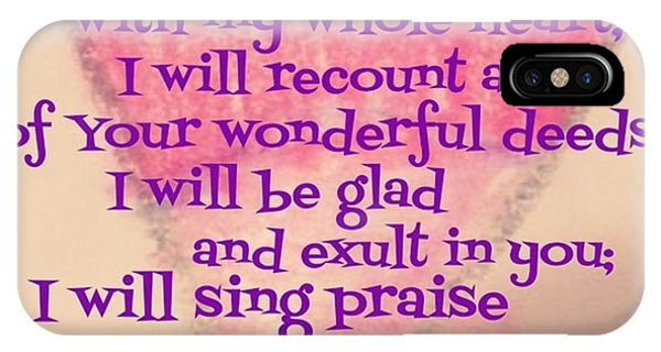 Design iPhone Case - I Will Give Thanks To The Lord With My by LIFT Women's Ministry designs --by Julie Hurttgam