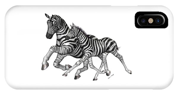 Zebra iPhone Case - I Will Take You Home by Betsy Knapp