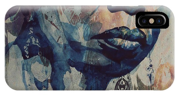 Blues Legends iPhone Case - I Wish I Knew How It Would Be  Feel To Be Free by Paul Lovering