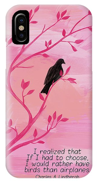 I Would Rather Have Birds IPhone Case