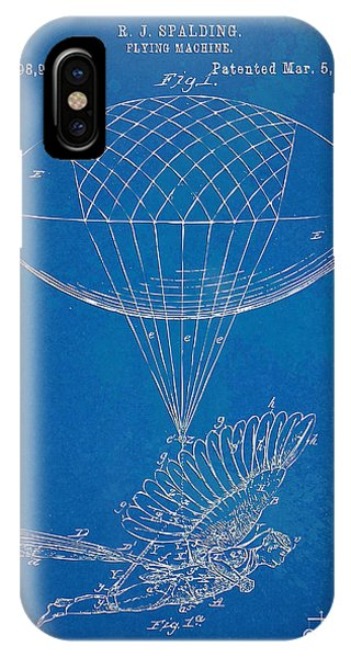 Patent Office iPhone Case - Icarus Airborn Patent Artwork by Nikki Marie Smith