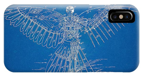 Patent Office iPhone Case - Icarus Human Flight Patent Artwork by Nikki Marie Smith