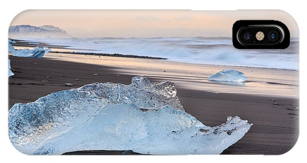 IPhone Case featuring the photograph Ice Beach by Susan Leonard
