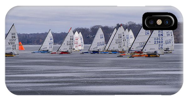 Ice Boat Racing - Madison - Wisconsin IPhone Case