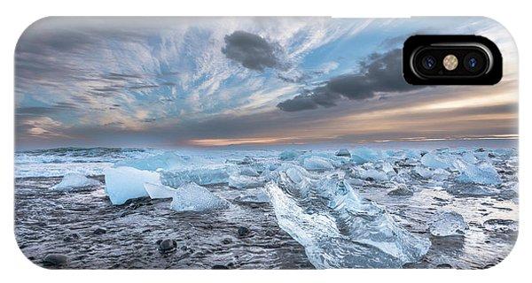 Ice Chunks Sunset 2 IPhone Case