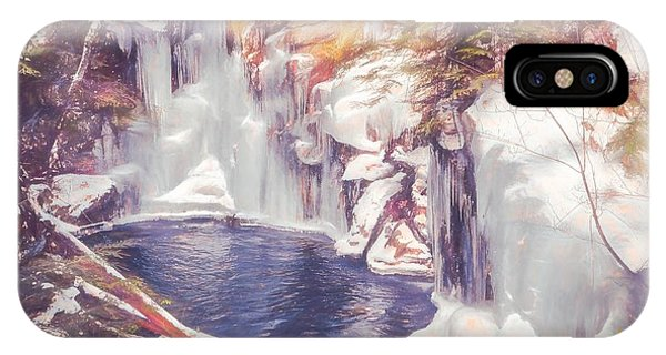 Ice Cold View Of Sages Ravine. Northwest Connecticut IPhone Case