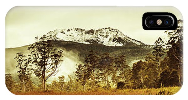 Morning Mist iPhone Case - Ice Covered Mountain Panorama In Tasmania by Jorgo Photography - Wall Art Gallery