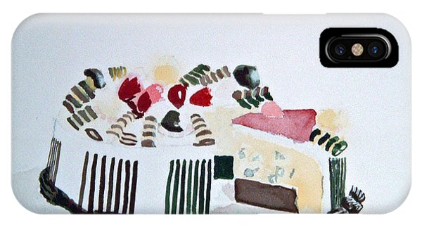 Ice Cream Cake Watercolor IPhone Case