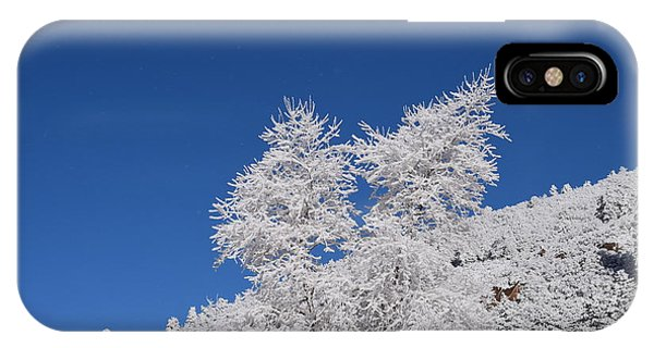 Ice Crystals Ute Pass Cos Co IPhone Case