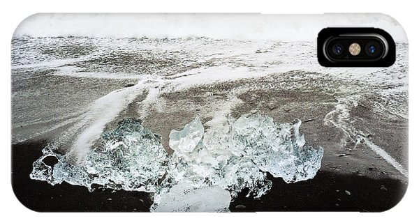White iPhone Case - Ice In Iceland by Matthias Hauser
