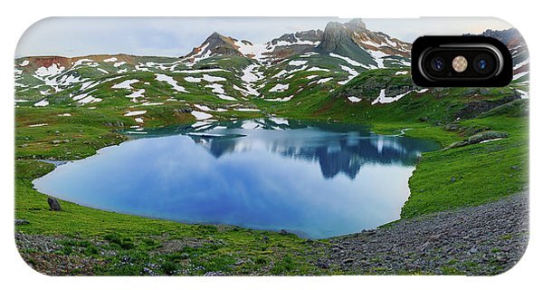 Ice Lake Panorama Phone Case by Johnny Adolphson
