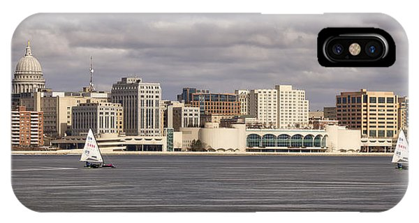 Ice Sailing - Lake Monona - Madison - Wisconsin IPhone Case