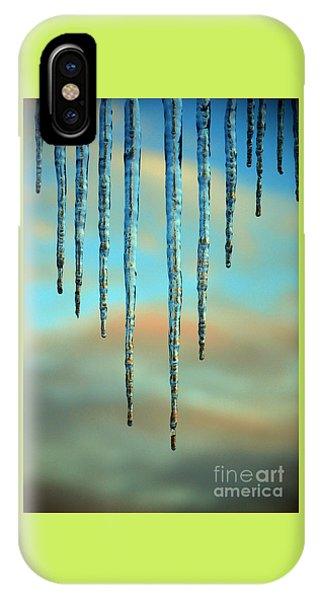 Ice Sickles - Winter In Switzerland  IPhone Case