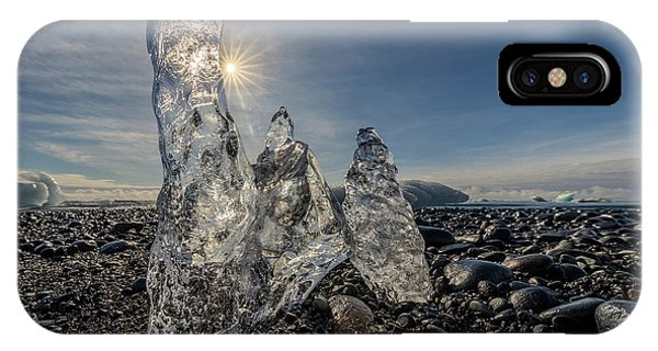 IPhone Case featuring the photograph Ice Spires by Rikk Flohr