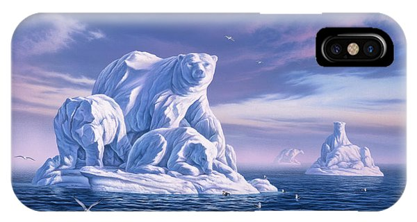 Ice iPhone Case - Icebeargs by Jerry LoFaro