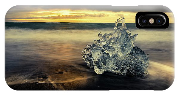 IPhone Case featuring the photograph Iceberg At Dawn by Rikk Flohr