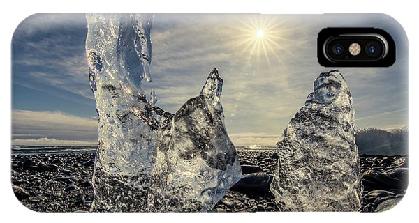 IPhone Case featuring the photograph Iceberg Fingers Catching The Sun by Rikk Flohr