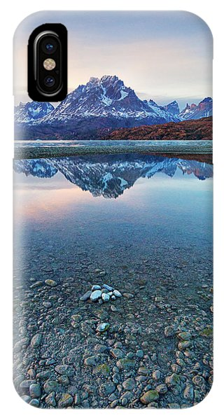Icebergs And Mountains Of Torres Del Paine National Park IPhone Case