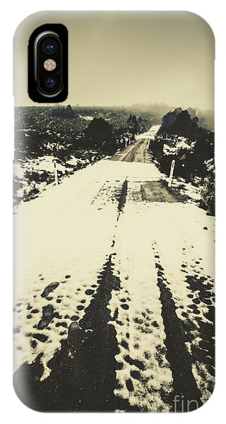 Snowy Road iPhone Case - Iced Over Road by Jorgo Photography - Wall Art Gallery