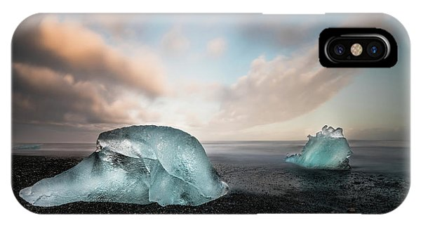 Reindeer iPhone Case - Iceland Glacial Ice by Larry Marshall