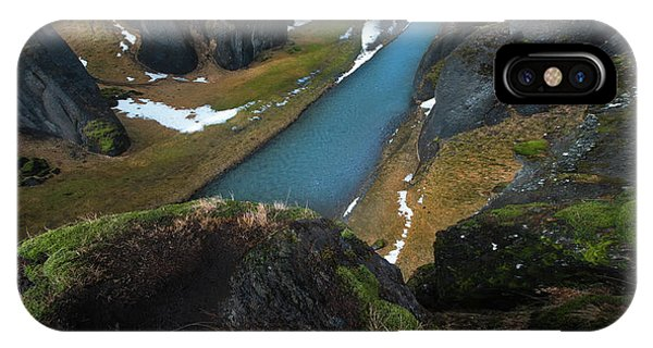 Reindeer iPhone Case - Iceland Gorge by Larry Marshall