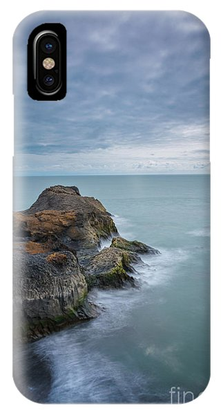 Black Sand iPhone Case - Iceland Seascape At Vik by Michael Ver Sprill