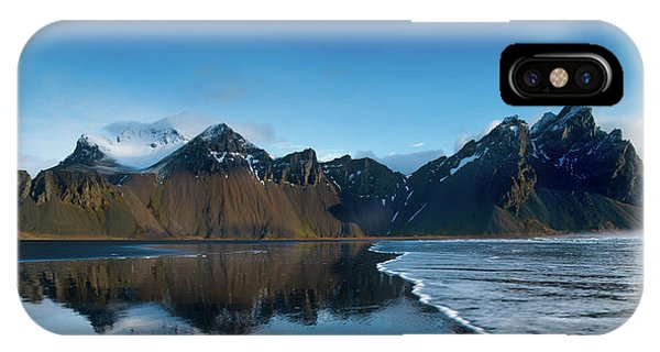 Reindeer iPhone Case - Iceland Sunrise by Larry Marshall