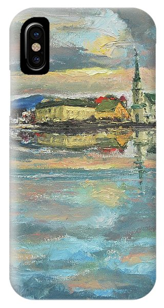 IPhone Case featuring the painting Icelandic 9 - Serene by Yen