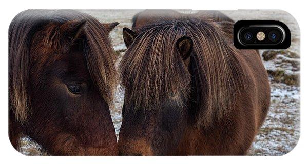 Icelandic Horses Couple IPhone Case