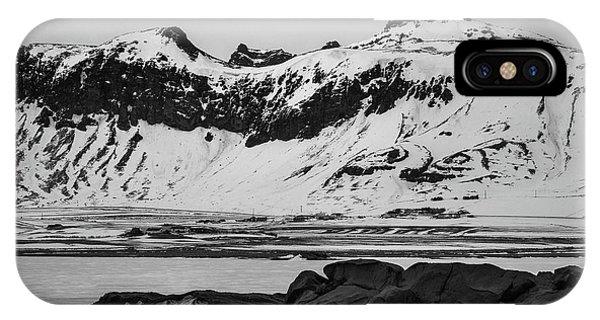 Icelandic Idyll Near Vik IPhone Case