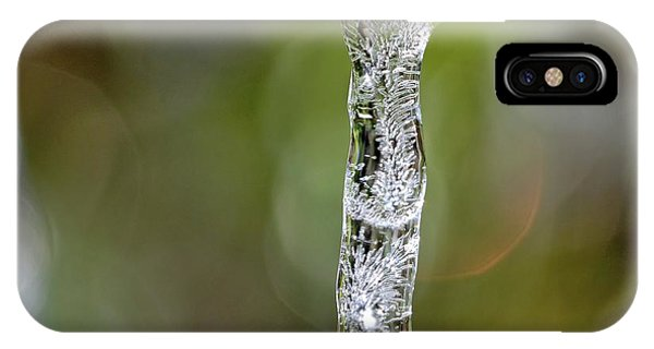 Icicle On Gardenia Leaf IPhone Case