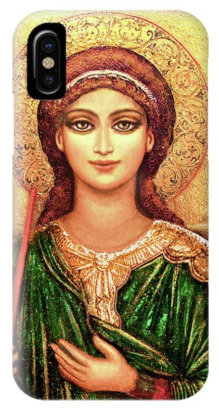 Icon Angel In Green IPhone Case