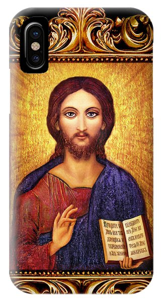Icon Christ Altar Phone Case by Ananda Vdovic