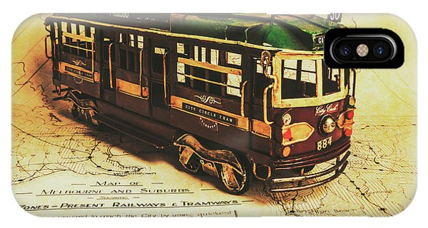 Passenger Train iPhone Case - Icon Melbourne Tram Art by Jorgo Photography - Wall Art Gallery