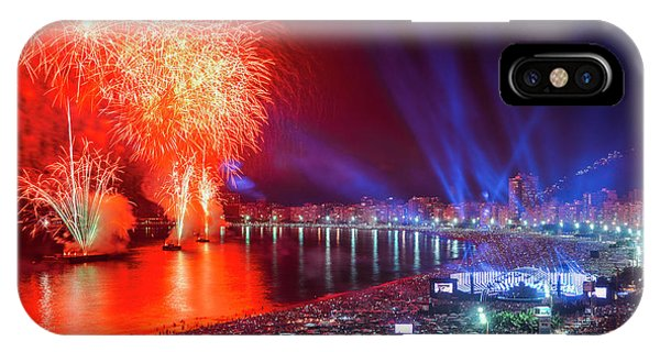 Iconic And Breath-taking Fireworks Display On Copacabana Beach,  IPhone Case