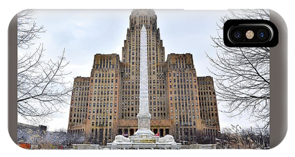 Iconic Buffalo City Hall In Winter IPhone Case