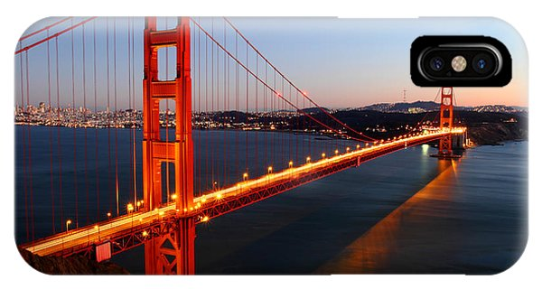 Reflection iPhone Case - Iconic Golden Gate Bridge In San Francisco by Pierre Leclerc Photography