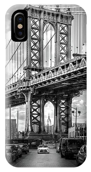 Downtown iPhone Case - Iconic Manhattan Bw by Az Jackson