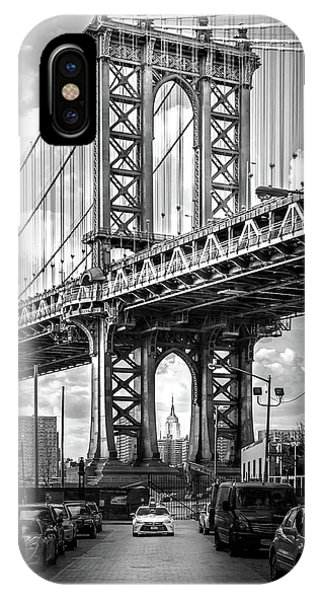 Building iPhone Case - Iconic Manhattan Bw by Az Jackson