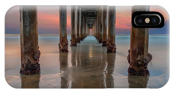 Long Exposure iPhone Case - Iconic Scripps Pier by Larry Marshall