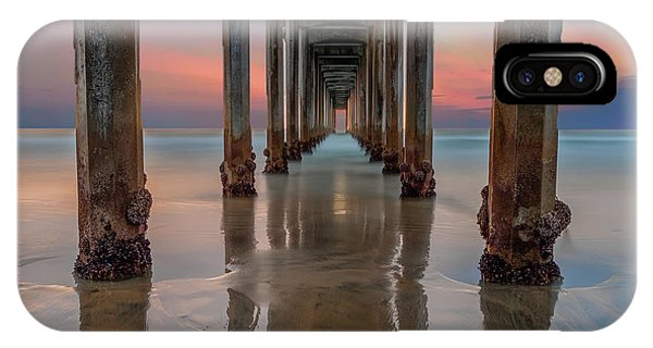 Exposure iPhone Case - Iconic Scripps Pier by Larry Marshall
