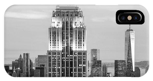New York City Skyline iPhone Case - Iconic Skyscrapers by Az Jackson