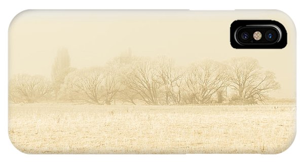 Icy Cold Foggy Woodland IPhone Case