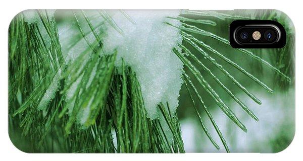 Icy Pine Needles IPhone Case