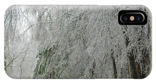 Icy Street Trees IPhone Case