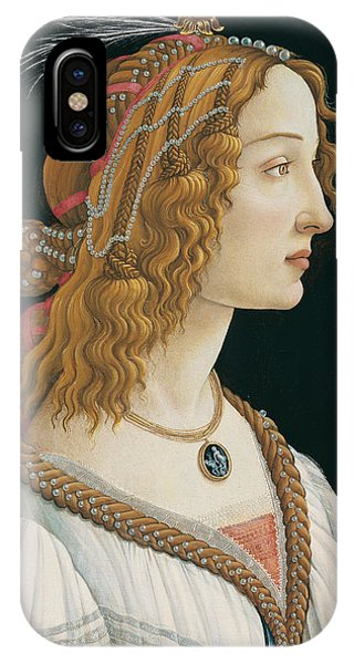 Botticelli iPhone Case - Idealized Portrait Of A Lady by Sandro Botticelli