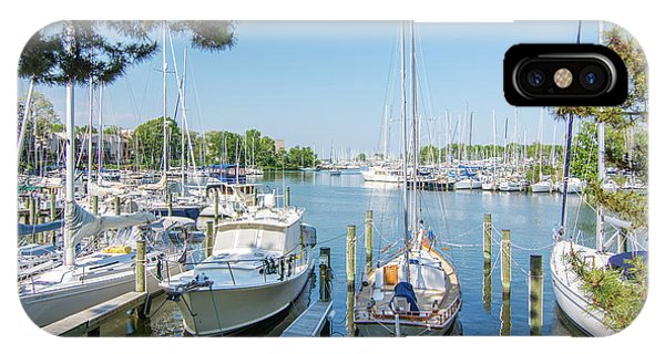 Idle Boats Back Creek Annapolis IPhone Case