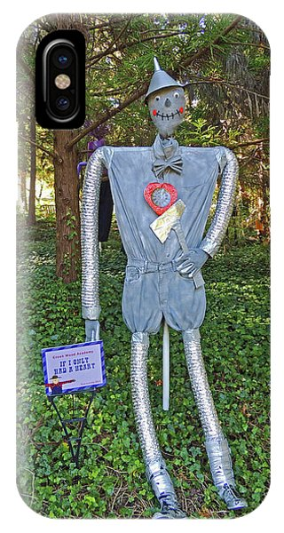 If I Only Had A Heart Scarecrow At Cheekwood Botanical Gardens IPhone Case