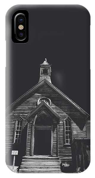 Bodie Ghost Town iPhone Case - If You Should Pass Through These Doors by Laurie Search