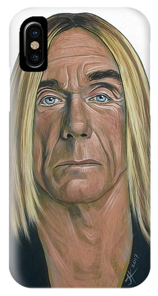 IPhone Case featuring the painting Iggy Pop 2 by Jovana Kolic